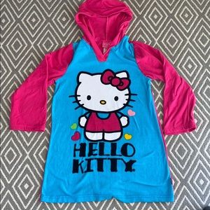 Hello Kitty Microfleece Hooded Night Gown